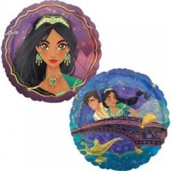 """Aladdin & Jasmine 18"""" Foil Balloon"""