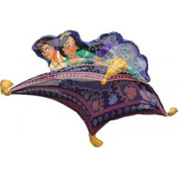 "Aladdin and Jasmine Foil Balloon - 42"" W x 25"" H"