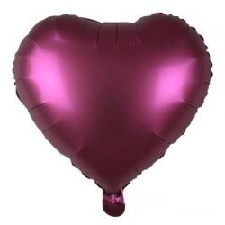 "18"" Heart Satin Pomegranate Foil Balloon"