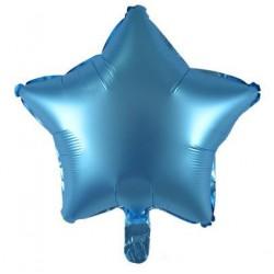"19"" Star Satin Ice Blue Foil Balloon"