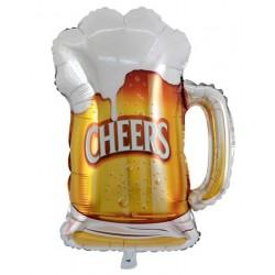 """Beer Mug Cheers 24"""" Foil Balloon"""