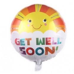 "Get Well Soon Sunshine 18"" Foil Balloon"