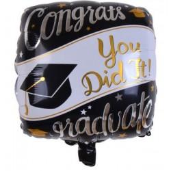 "Graduation 18"" Square Foil Balloon"