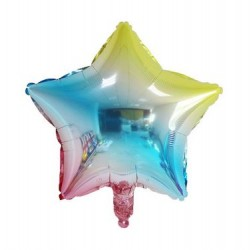 "19"" Ombre Pastel Star Foil Balloon"