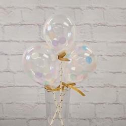 """5"""" Confetti Balloon Pastel  (set of 3)"""