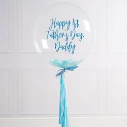 Personalized Father's Day Bubble Confetti Balloon (Blue)