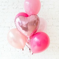Pink Heart Balloon Bouquet (with weight)