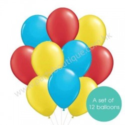 Latex Balloon Bouquet of 12 - Style 04 (with weight)