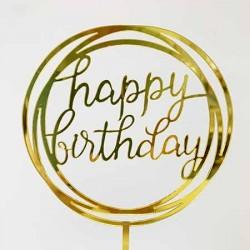Cake Topper - Happy Birthday (01)