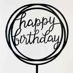 Cake Topper - Happy Birthday (03)