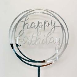 Cake Topper - Happy Birthday (02)
