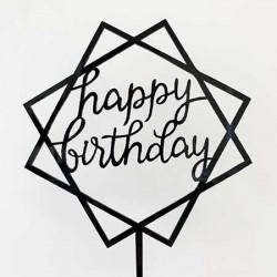Cake Topper - Happy Birthday (06)