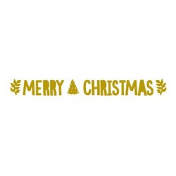 Merry Christmas Glitter Gold Bunting
