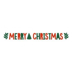 Merry Christmas Red & Green Bunting