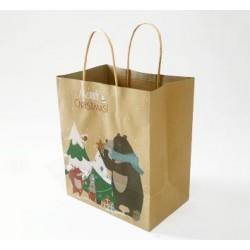 Paper Gift Bag - Christmas Bear, 10pcs