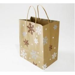 Paper Gift Bag - Christmas Snowflakes, 10pcs
