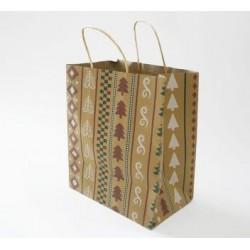 Paper Gift Bag - Christmas Pattern, 10pcs