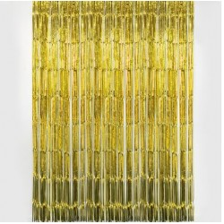Tassel Curtain Backdrop - Gold