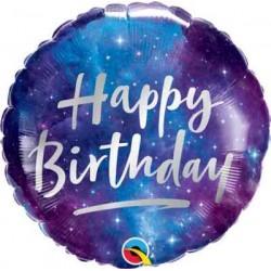 """Birthday Galaxy 18"""" Foil Balloon"""