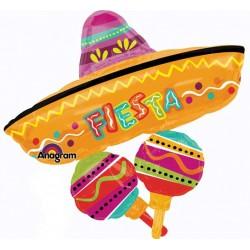 "Fiesta Fun Cluster Shape Foil Balloon - 32"" W x 31"" H"