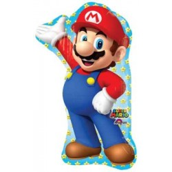 """Mario Brothers Shape Foil Balloon - 22"""" W x 33"""" H"""