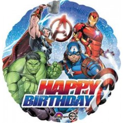 "Avengers Birthday 18"" Foil Balloon"