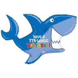 "Birthday Shark Foil Balloon - 39""W"