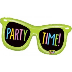 """Mighty Party Time Shades Foil Balloon - 38"""" W"""