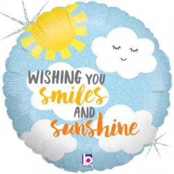 "Wishing You Smiles & Sunshine 18"" Foil Balloon"