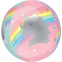 "Orbz Magical Rainbow Unicorn Foil Balloon - 15"" W x 16"" H"