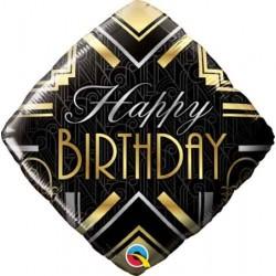 "Birthday Art Deco 18"" Foil Balloon"