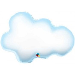 "Puffy Cloud Shape Foil Balloon - 30""W"