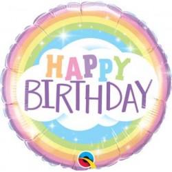 """Birthday Rainbow 18"""" Foil Balloon"""