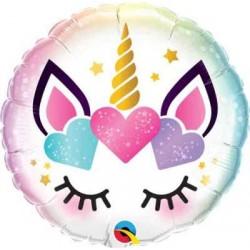 """Unicorn Eyelashes 18"""" Foil Balloon"""