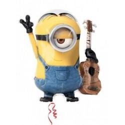 "Despicable Me Minion Guitar Foil Balloon - 26""W x 28""H"