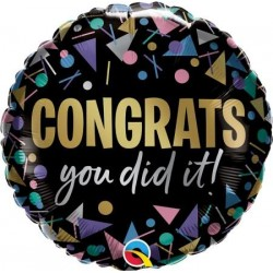 """Congrats You Did It!"" 18"" Foil Balloon"