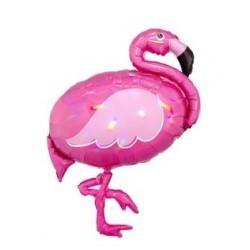 "Flamingo Iridescent Foil Balloon - 28""W x 33""H"