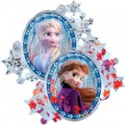 "Disney Frozen II Foil Balloon - 26"" W x 30"" H (2 sided design)"