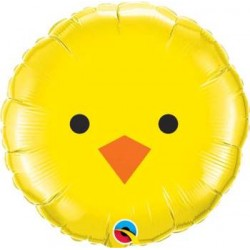 """Baby Chick Face 18"""" Foil Balloon"""