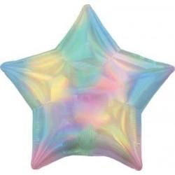 """19"""" Star Iridescent Pastel Rainbow Foil Balloon"""