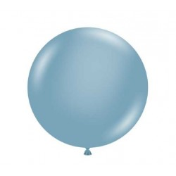 """36"""" Round Blue Slate Latex Balloon (with helium)"""
