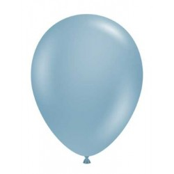 """11"""" Round Blue Slate Latex Balloon (with helium)"""