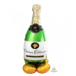 "Champagne Bottle AirLoonz Foil Balloon - 24""W x 60""H"