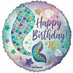 "Mermaid Tail Birthday 18"" Foil Balloon"