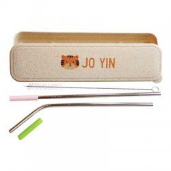 Personalized Case with Straws - Tiger