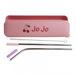 Personalized Case with Straws - Cherry