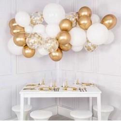 Balloon Garland (Gold & White)