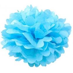 Tissue Pom Pom - Blue