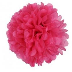 Tissue Pom Pom - Hot Pink