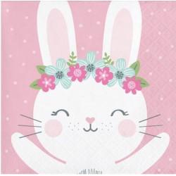 Birthday Bunny Napkin, 16pcs